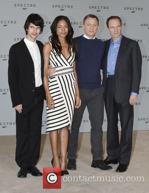 Ben Whilshaw, Naomi Harris, Daniel Craig and Ralph Fiennes 1