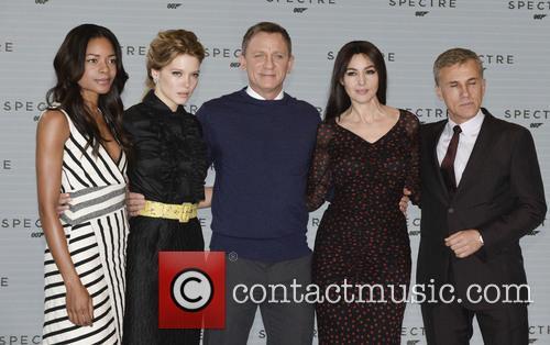 Naomi Harris, Lea Seydoux, Daniel Craig, Monica Bellucci and Christoph Waltz 2