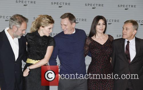 Sam Mendes, Lea Seydoux, Daniel Craig, Monica Bellucci and Christoph Waltz 2