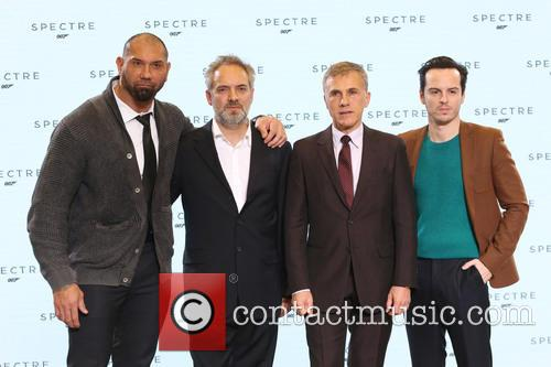 Dave Bautista, Director Sam Mendes, Christoph Waltz and Andrew Scott 1