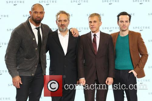 Dave Bautista, Director Sam Mendes, Christoph Waltz and Andrew Scott 5