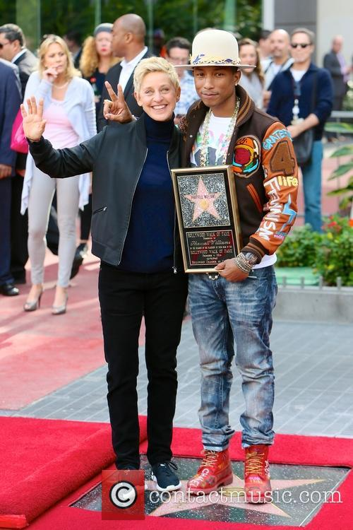 Pharrell Williams and Ellen Degeneres 2