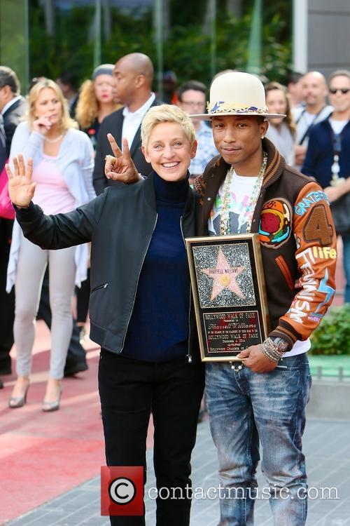 Pharrell Williams and Ellen Degeneres 4