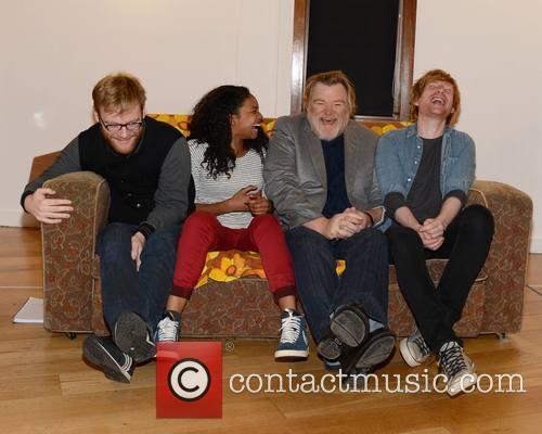 Brian Gleeson, Leona Allen, Brendan Gleeson and Domhnall Gleeson