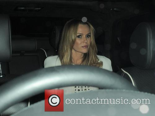 Amanda Holden  leaving the Groucho club