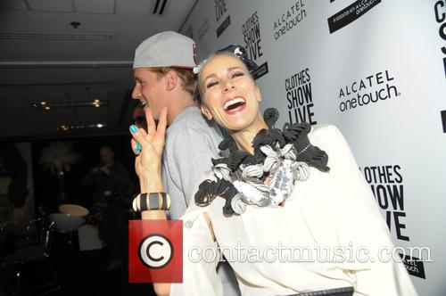Caryn Franklin and Jamie Laing
