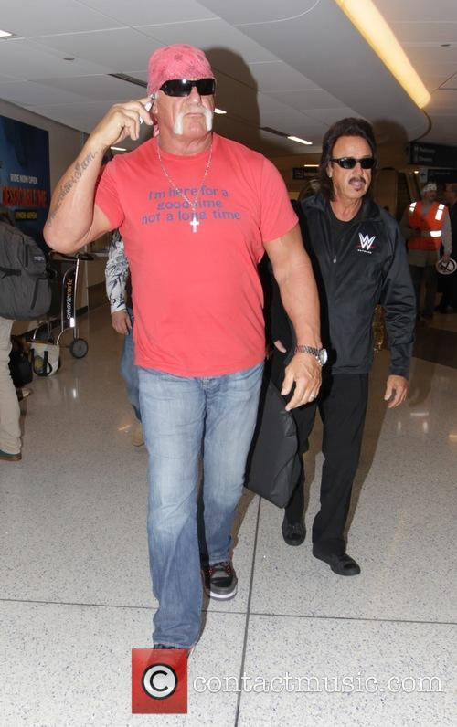 Hulk Hogan and Jimmy Hart arrive at Los...