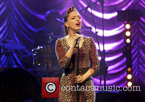 Imelda May performs at Liverpool Philharmonic Hall
