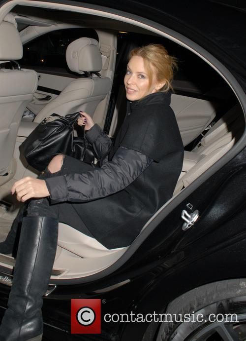 Kylie Minogue outside Chiltern Firehouse