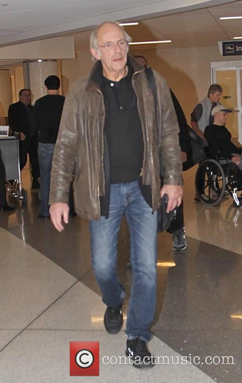 Actor Christopher Lloyd arrives at LAX airport