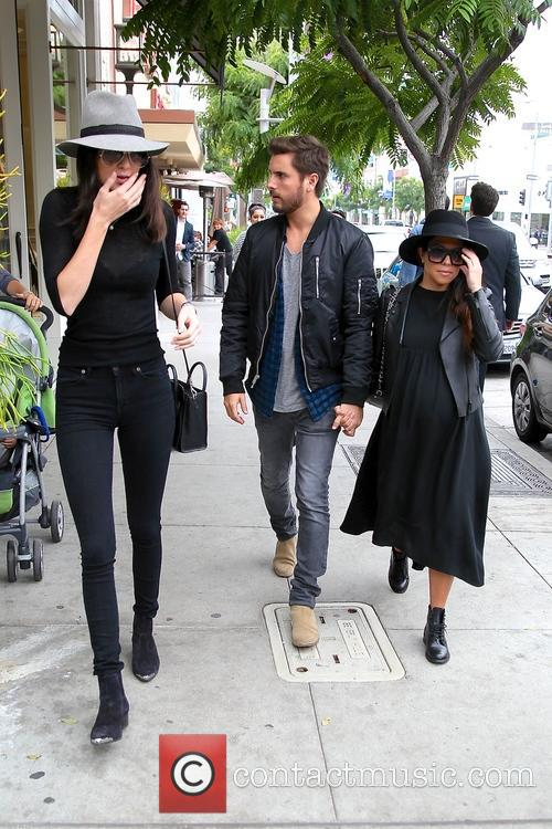 Kylie Jenner, Kourtney Kardashian and Scott Disick spotted...