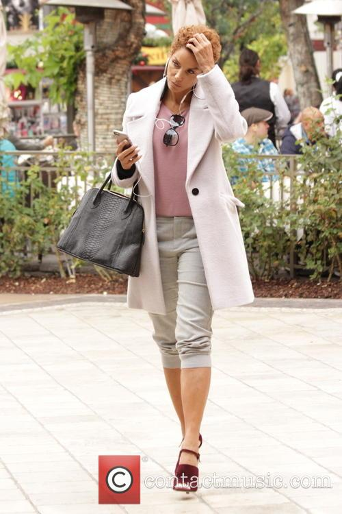 Nicole Murphy seen shopping at The Grove