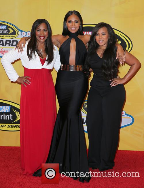 Tina Douglas, Ashanti and Shia Douglas 4