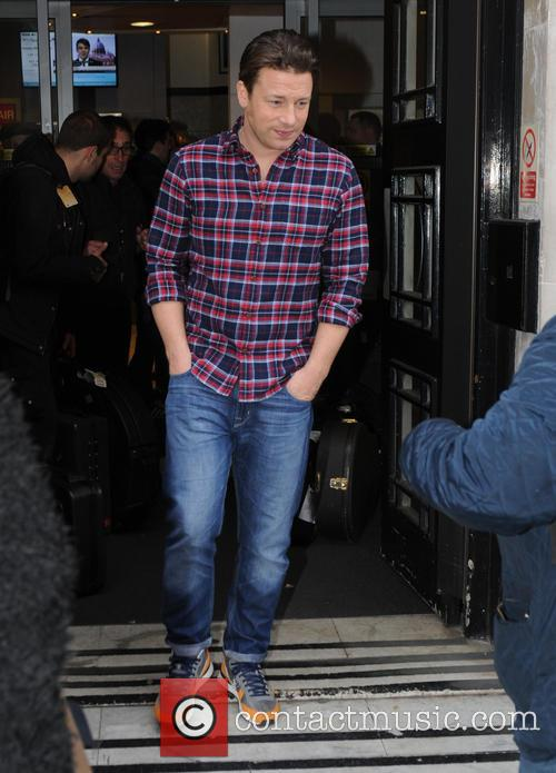 Jamie Oliver seen at BBC Studios