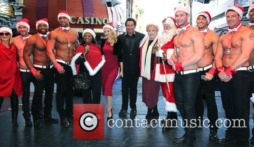 Holly Madison, Wayne Newton, Olivia Newton John, Mayor Carolyn Goodman and Chippendales