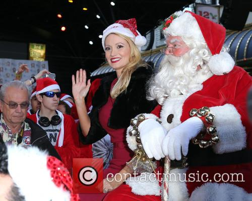 Santa and Holly Madison 1