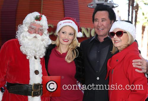 Santa, Holly Madison, Wayne Newton and Olivia Newton John 2