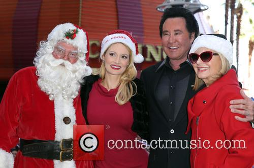 Santa, Holly Madison, Wayne Newton and Olivia Newton John 3