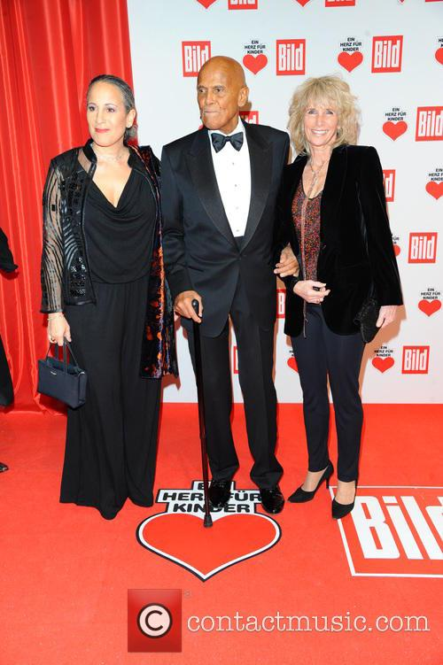 Gina Belafonte, Harry Belafonte and Pamela Frank 1
