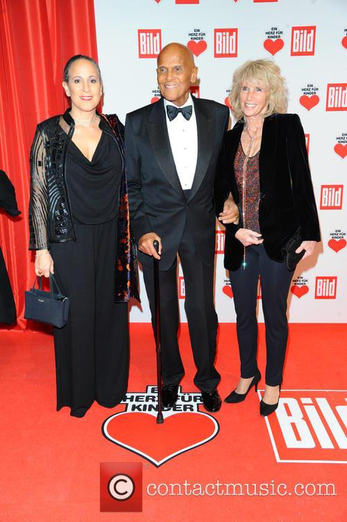 Gina Belafonte, Harry Belafonte and Pamela Frank 2