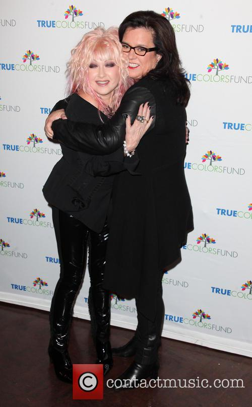 Cyndi Lauper and Rosie O'donnell 2