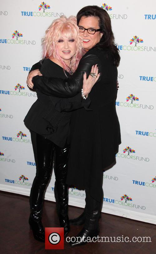 Cyndi Lauper and Rosie O'donnell 3