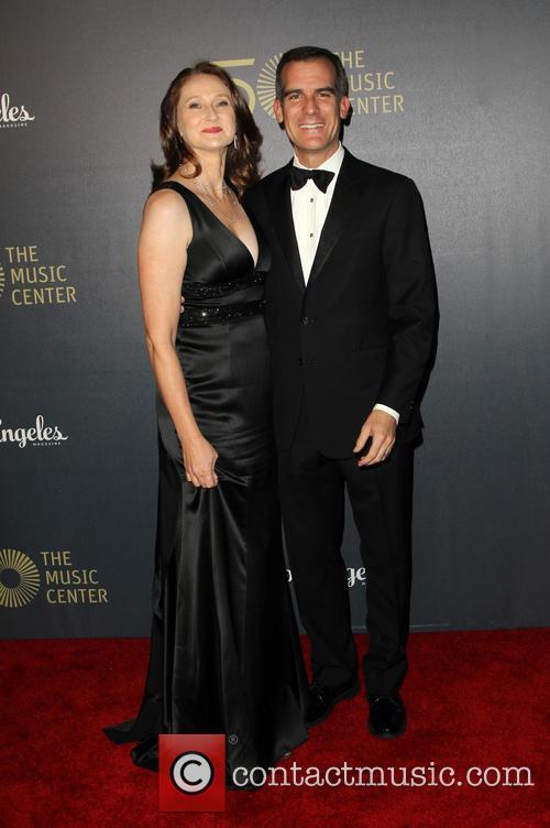Amy Wakeland and Eric Garcetti 1