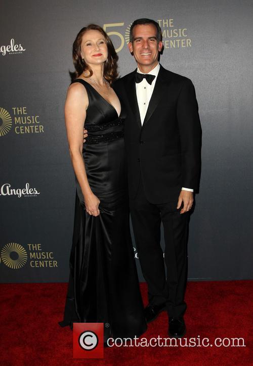 Amy Wakeland and Eric Garcetti 2
