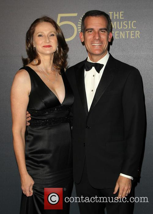 Amy Wakeland and Eric Garcetti 3