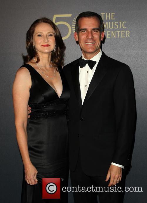 Amy Wakeland and Eric Garcetti 4