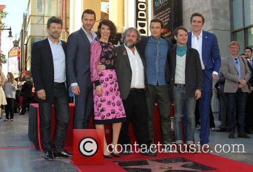 Andy Serkis, Richard Armitage, Evangeline Lilly, Peter Jackson, Orlando Bloom, Elijah Wood and Lee Pace 11