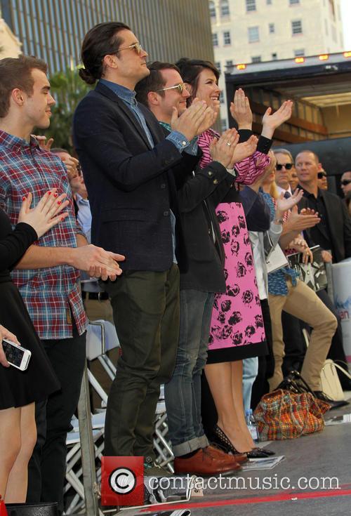 Orlando Bloom, Elijah Wood and Evangeline Lilly 4