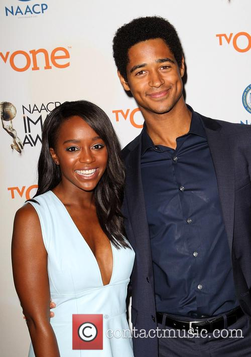 Aja Naomi King and Alfred Enoch 5