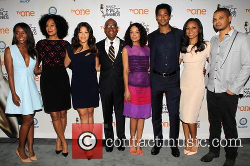 Aja Naomi King, Tracee Ellis Ross, Gina Rodriguez, Cornell William Brooks, Alfred Enoch, Nischelle Turner and Tessa Thompson 2