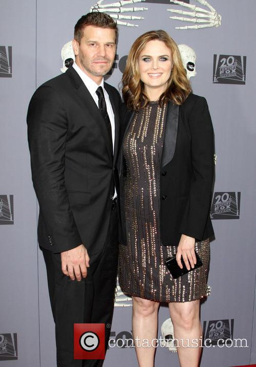 David Boreanaz and Emily Deschanel