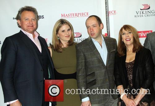 Hugh Bonneville, Jenna Bush Hager, Gareth Neame and Phyllis Logan 10