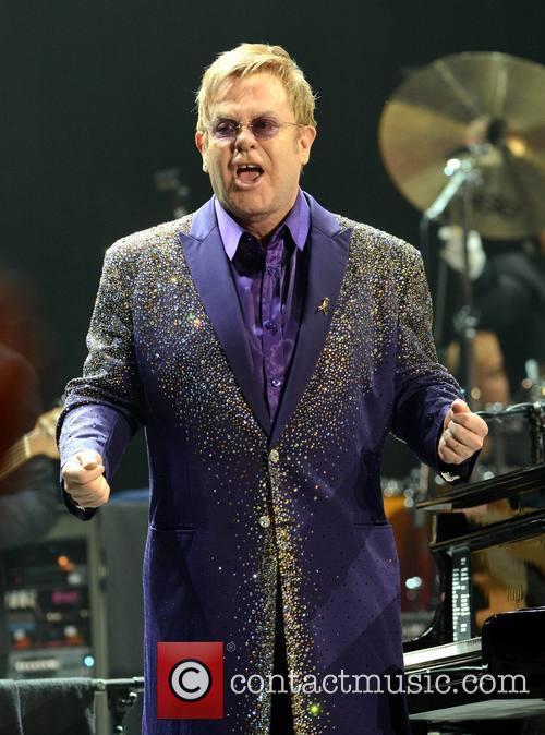 Elton John performs at the 3Arena