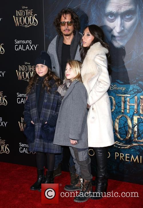 Chris Cornell, Vicky Karayiannis and Family