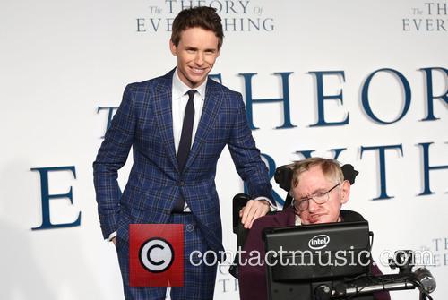 Professor Stephen Hawking and Eddie Redmayne 2