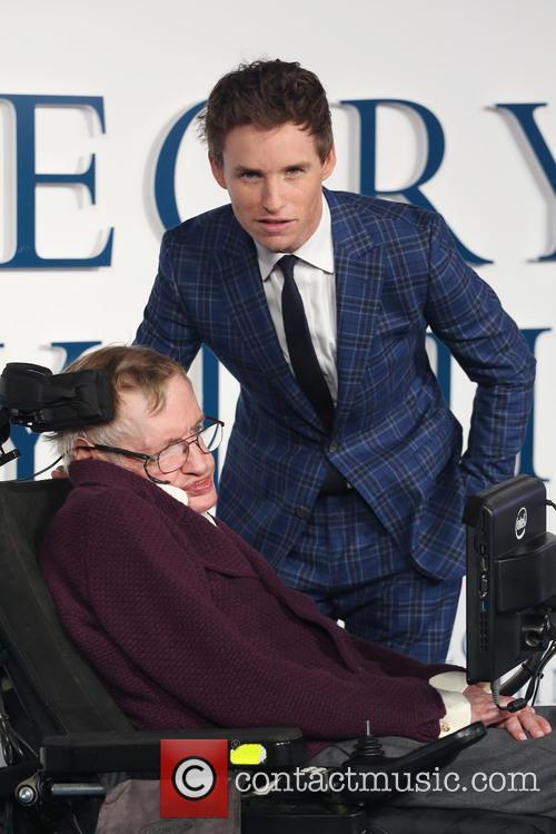 Professor Stephen Hawking and Eddie Redmayne 1