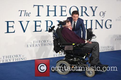 Professor Stephen Hawking and Eddie Redmayne 3