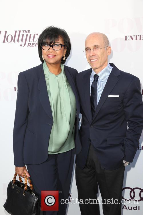 Cheryl Boone Isaacs and Jeffrey Katzenberg 1