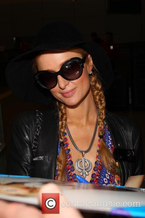 Paris Hilton at Los Angeles International Airport