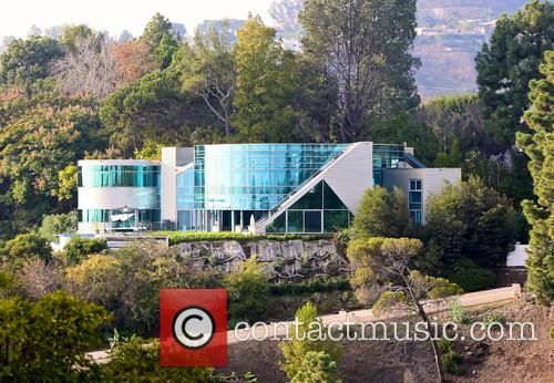 A view of the house Justin Bieber has...