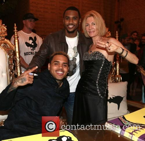 Chris Brown, Trey Songz and Karen Bystedt