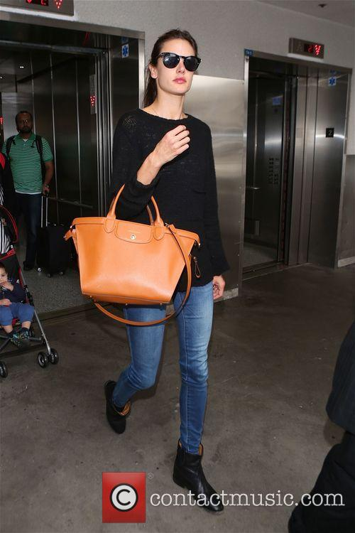 Alessandra Ambrosio at Los Angeles International Airport (LAX)