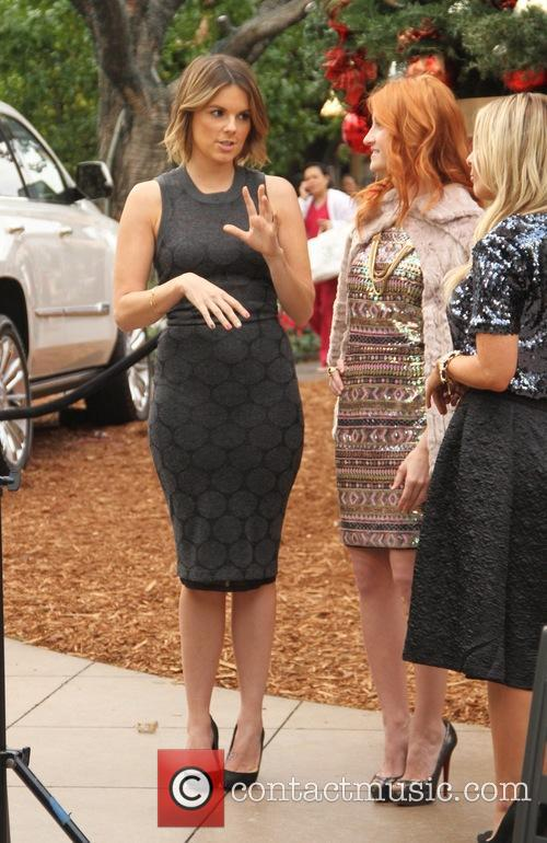 Ali Fedotowsky filming at The Grove
