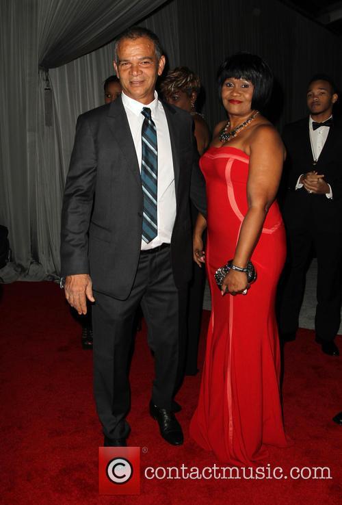 Rihanna, Lionel Braithwaite and Monica Braithwaite 5