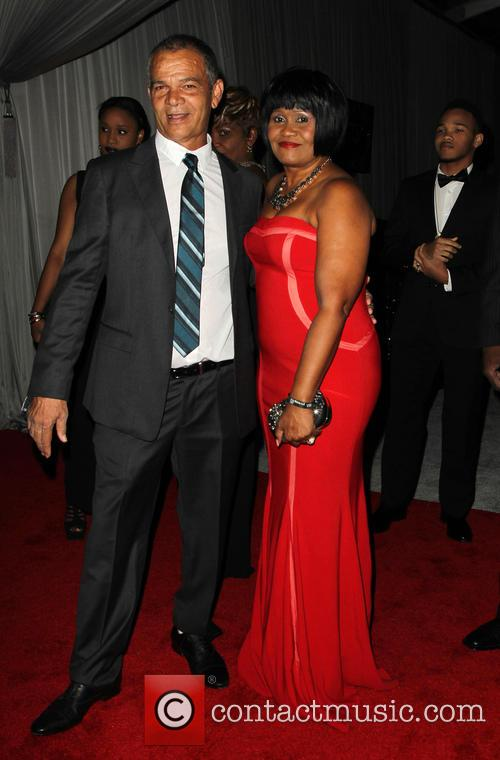 Rihanna, Lionel Braithwaite and Monica Braithwaite 6