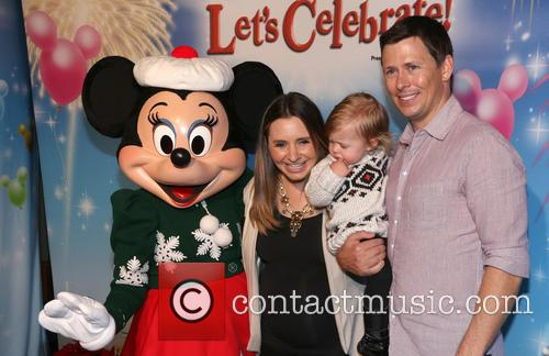 Beverley Mitchell, Michael Cameron, Kenzie Cameron and Minnie Mouse